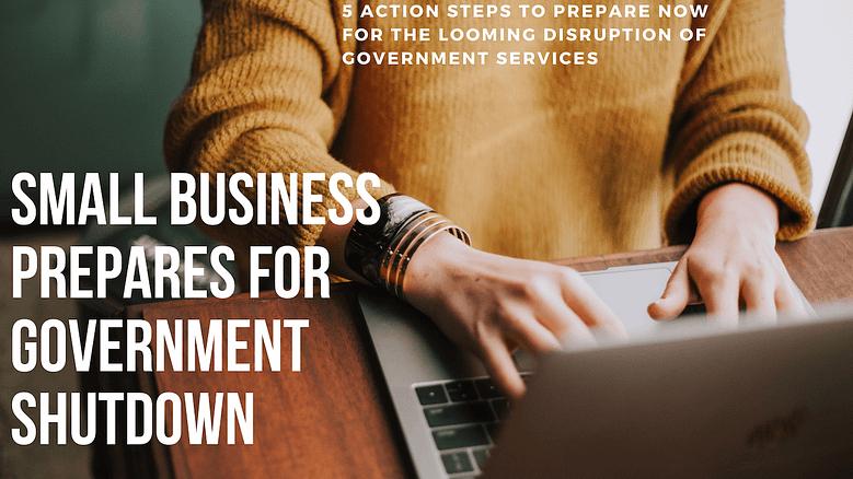 Small Business Prepares for Government shutdown