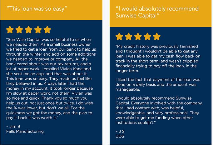 Sunwise Capital Reviews