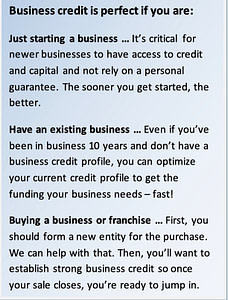 Business credit perfect if