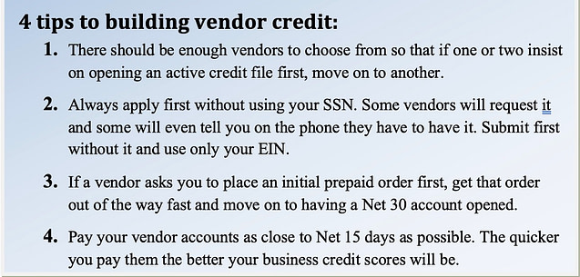 4 tips to building vendor credit