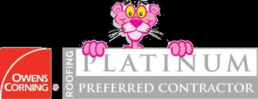 : Owens Corning logo, Platinum Preferred Contractor
