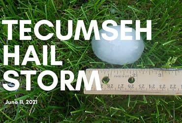 Tecumseh Hail Storm