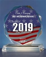 Award for best of 2019 for adult and continuing education for Code 3 Safety & Training