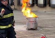 Code 3 Safety & Training instructor training on fire extinguisher safety