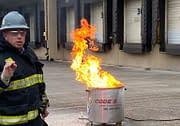 Code 3 Safety & Training instructor training on fire extinguisher safety