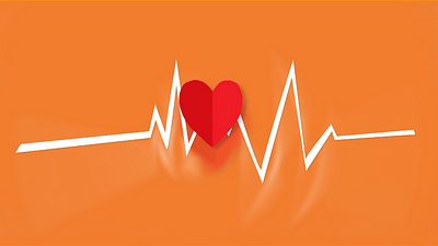 illustrated heart with heartbeat