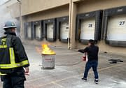 Fire extinguisher training from Code 3 Safety & Training