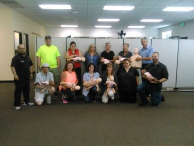 CPR Training for employees at Nautilus in Portland Oregon