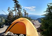 Tent in the Washington mountains