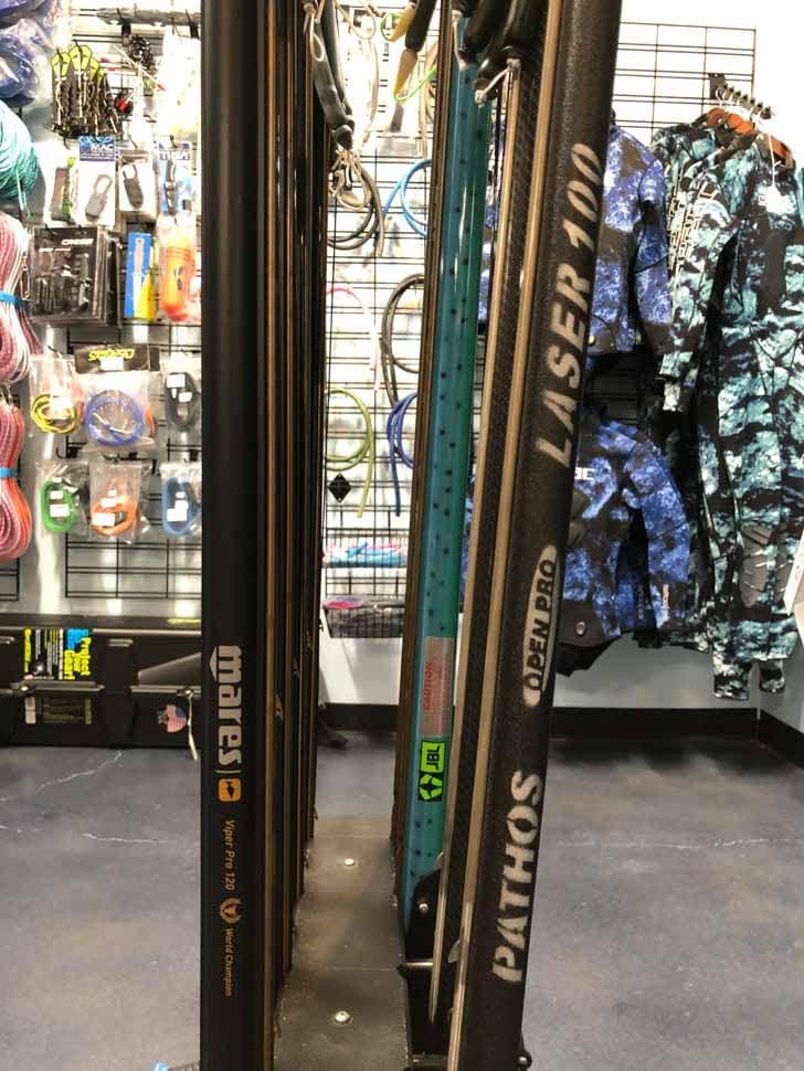 Spear fishing Kona dive shop
