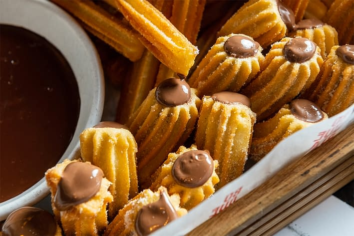 Churros filled with Nutella