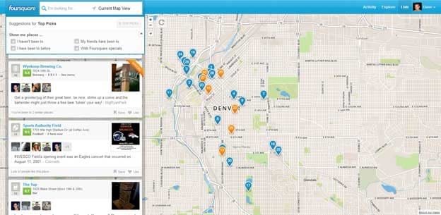 New Foursquare Explore Features