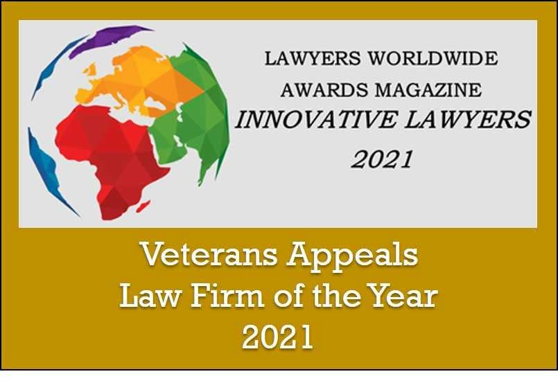 Veterans Appeals Law Firm of the Year 2021