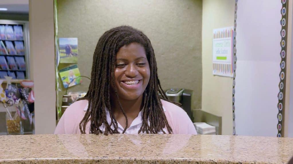Adult patient smiling