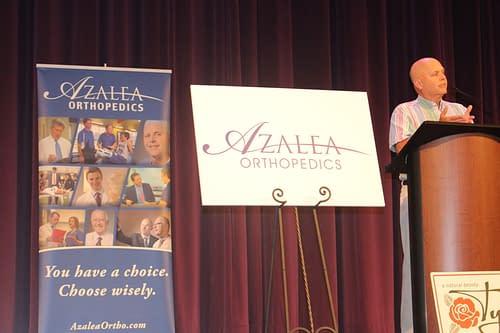 Dr with azalea sign