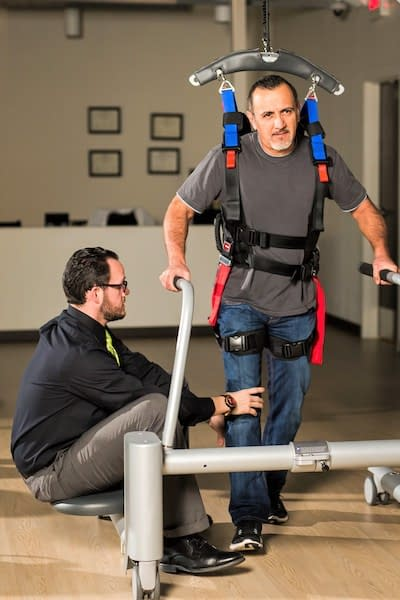 Patient receiving physical therapy at Azalea Orthopedics in Tyler, Texas.