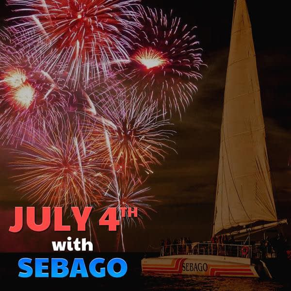 4th of July Champagne, Dinner & Fireworks Sail