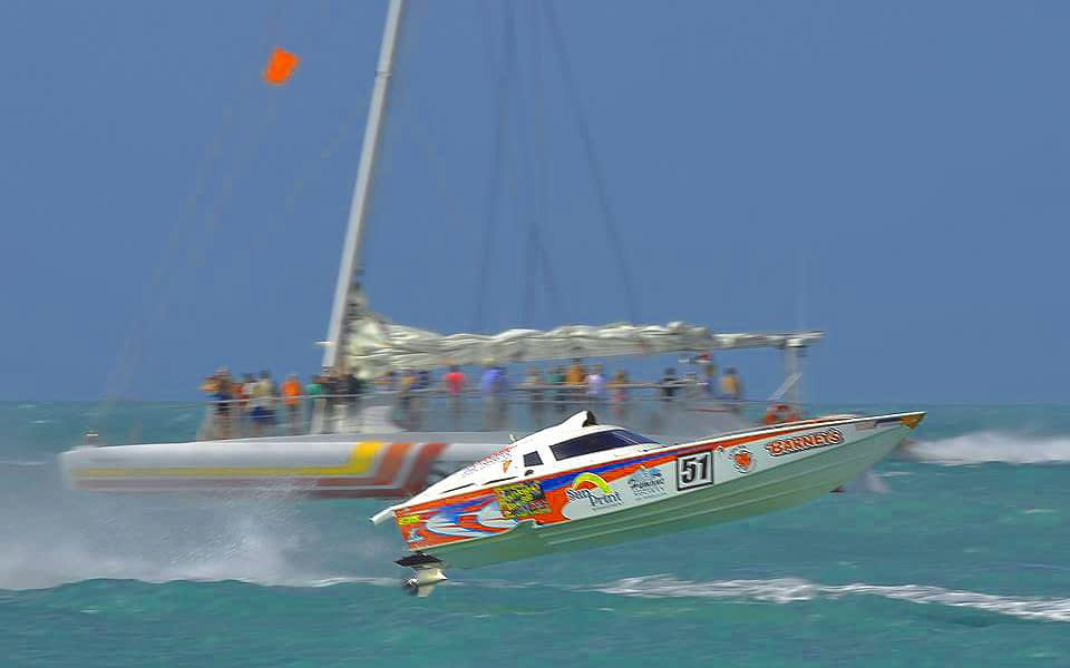 Key West Power Boat Race Viewing boat experience