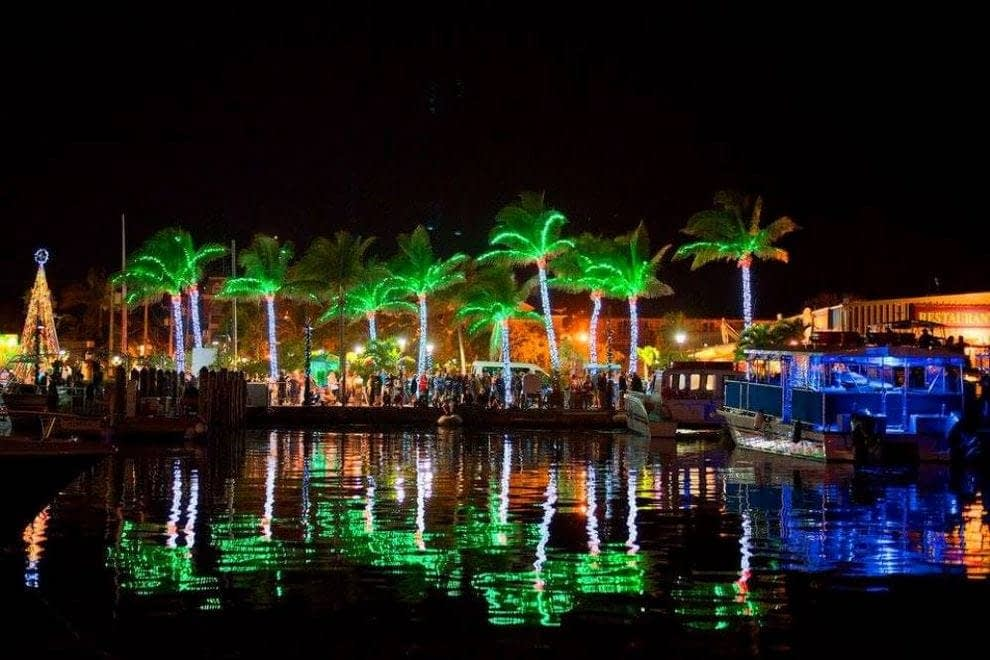 Key West Lighted Boat Parade – Schooner Sailing