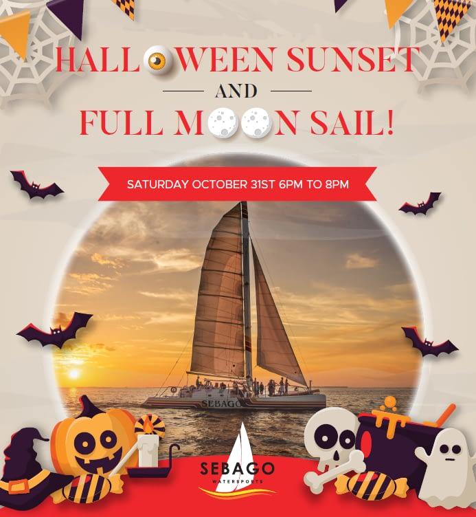 Halloween Sunset & Full Moon Sail